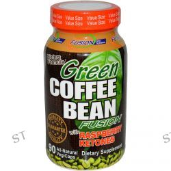 Fusion Diet Systems, Green Coffee Bean Fusion with Raspberry Ketones, 90 Veggie Caps