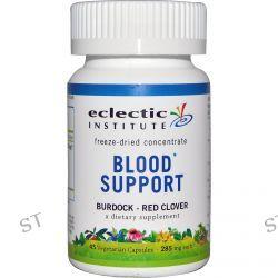 Eclectic Institute, Blood Support, Burdock - Red Clover, 285 mg, 45 Veggie Caps