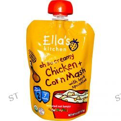 Ella's Kitchen, Oh So Creamy Chicken + Corn Mash, Stage 2, 4.5 oz (127 g)