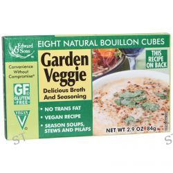 Edward & Sons, Garden Veggie Bouillon Cubes, 8 Natural Bouillon Cubes, 2.9 oz (84 g)