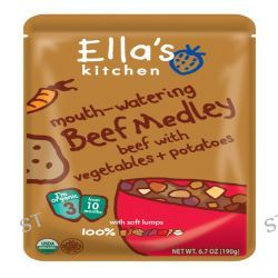 Ella's Kitchen, Mouth-Watering Beef Medley Beef with Vegetables + Potatoes, Stage 3, 6.7 oz (190 g)
