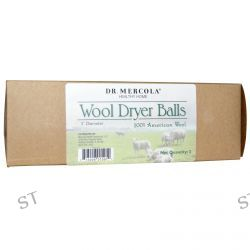 Dr. Mercola, Healthy Home, Wool Dryer Balls, 3 Balls