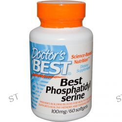 Doctor's Best, Best Phosphatidylserine, 100 mg, 60 Softgels