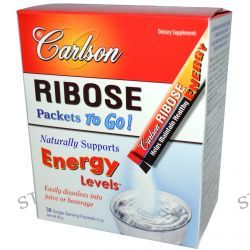 Carlson Labs, Ribose Packets To Go!, 30 Single Serving Packets, 3 g Each