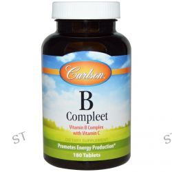Carlson Labs, B·Compleet, Vitamin B Complex with Vitamin C, 180 Tablets
