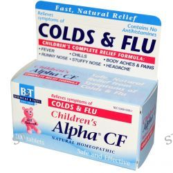 Boericke & Tafel, Children's Alpha CF, 100 Tablets