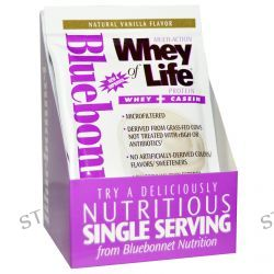 Bluebonnet Nutrition, Multi-Action Whey of Life Protein, Natural Vanilla Flavor, 8 Packets, 1.05 oz (30 g) Each