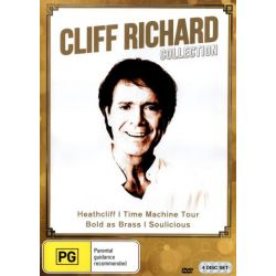 Cliff Richard Collection (Heathcliff/Time Machine Tour/Bold as Brass/Soulicious) (4 Discs) on DVD.