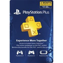 Sony PlayStation Plus Subscription (3-Month) 3000132 B&H Photo