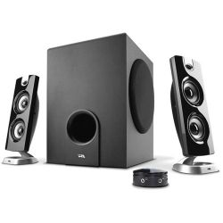 Cyber Acoustics CA-3602 3-Piece Flat Panel Subwoofer and CA-3602