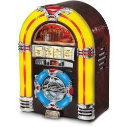 Crosley Radio CR1101A-CH Jukebox CD with AM/FM Radio CR1101A-CH