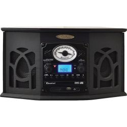 Pyle Home Retro Vintage Turntable System (Black) PTCDS7UIB B&H