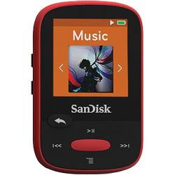 SanDisk 4GB Clip Sport MP3 Player (Red) SDMX24-004G-A46R B&H