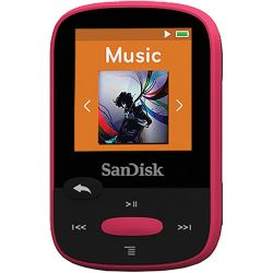 SanDisk 8GB Clip Sport MP3 Player (Pink) SDMX24-008G-A46P B&H