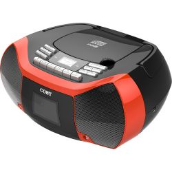 Coby MPCD-102 CD Cassette Radio Player and MPCD-102-BLK/RED B&H