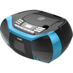 Coby MPCD-102 CD Cassette Radio Player and MPCD-102-BLK/BLU B&H