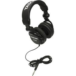 Tascam  TH-02 Studio Headphones (Black) TH-02-B B&H Photo Video