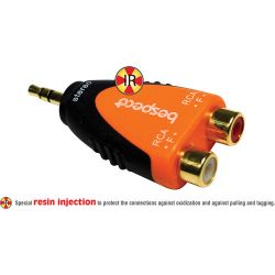 Bespeco 3.5mm Mono Jack Male to Two RCA Female Adapter SLAD380