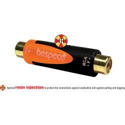 Bespeco RCA Female to RCA Female Adapter (Black/Orange) SLAD310
