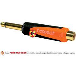 "Bespeco 1/4"" Mono Jack Male to RCA Female Adapter SLAD305"