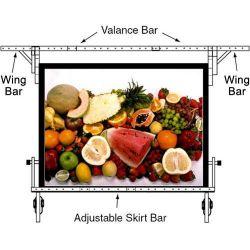 """Da-Lite Adjustable Skirt Bar for 54 x 54"""" Fast-fold 89243K"""