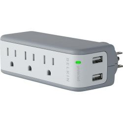 Belkin Mini Surge Protector with USB Charger BZ103050QTVL B&H