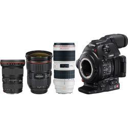 Canon EOS C100 Mark II Cinema EOS Camera with Triple 0202C010