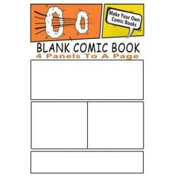Blank Comic Book, Make Your Own Comic Books with These Comic Book Templates by Blank Books 'n' Journals, 9781506122144.