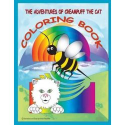 The Adventures of Creampuff the Cat, Coloring Book by MR Vernon D Rowlette, 9781514121085.