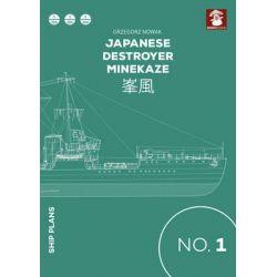 Japanese Destroyer Minekaze, Ship Plans by Grzegorz Nowak, 9788365281067.