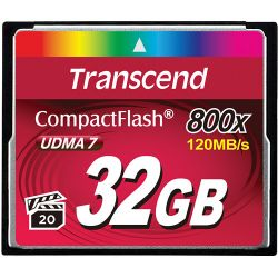 Transcend 32GB 800x CompactFlash Memory Card UDMA (2-Pack) B&H