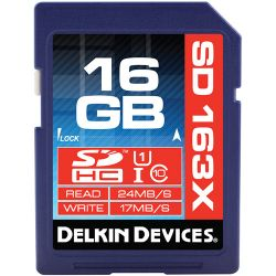 Delkin Devices 16GB SDHC Memory Card Pro Class 10 DDSDPRO3-16GB
