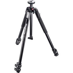 Manfrotto MT190X3 3-Section Tripod with MVH500AH Fluid Video B&H