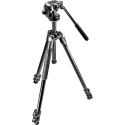 Manfrotto 290 Xtra Aluminum Tripod with 128RC MK290XTA3-2WUS B&H