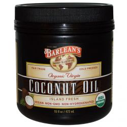 Barlean's, Organic Virgin Coconut Oil, 16 fl oz (473 ml)