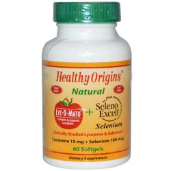 Healthy Origins, Lyc-O-Mato Lycopene + Seleno Excell, 60 Softgels