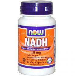 Now Foods, NADH, 10 mg, 60 Veggie Caps