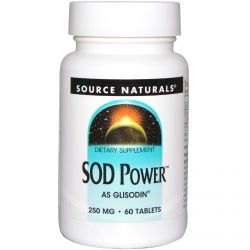 Source Naturals, SOD Power, 250 mg, 60 Tablets