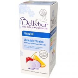 Bellybar, Prenatal Chewable Vitamins, Mixed Fruit Flavor, 60 Chewable Tablets