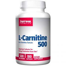 Jarrow Formulas, L-Carnitine 500, 500 mg, 180 Capsules