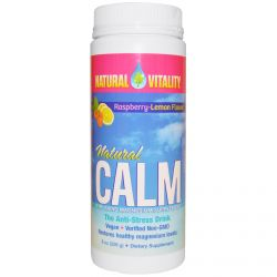 Natural Vitality, Natural Calm, Raspberry-Lemon Flavor, 8 oz (226 g)