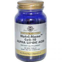 Solgar, Platinum Edition, Nutri-Nano CoQ-10 Alpha Lipoic Acid, 60 Softgels