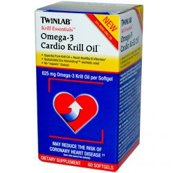 Twinlab, Krill Essentials, Omega-3 Cardio Krill Oil, 60 Softgels