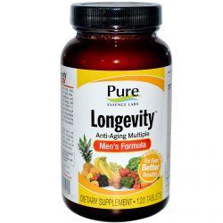 Pure Essence, Longevity, Anti-Aging Multiple, Men's Formula, 120 Tablets