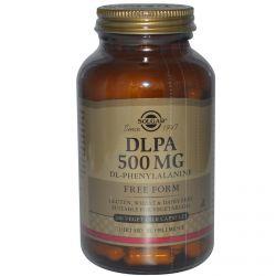 Solgar, DLPA, Free Form, 500 mg, 100 Veggie Caps