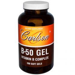 Carlson Labs, B•50 Gel, Vitamin B Complex, 200 Soft Gels
