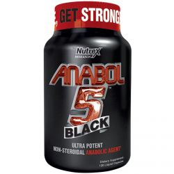 Nutrex Research Labs, Anabol 5, Black, 120 Liquid Capsules