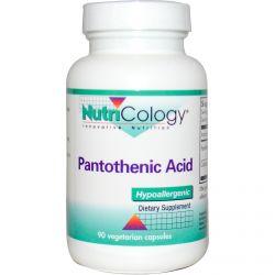 Nutricology, Pantothenic Acid, 90 Veggie Caps