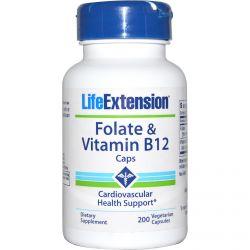 Life Extension, Folate & Vitamin B12 Caps, 200 Veggie Caps