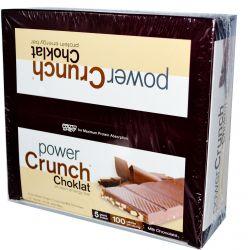 BNRG, Power Crunch, Protein Energy Bar, Choklat, Milk Chocolate, 12 Bars, 1.5 oz (42 g) Each